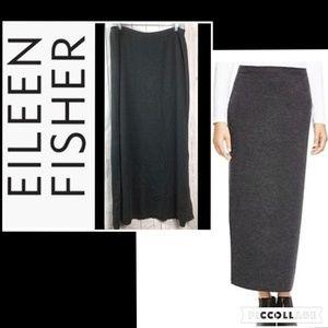 Eileen fisher maxi skirt womens large wool gray